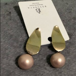 Rose Gold Pearl Earrings on Sterling Silver